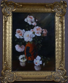 Floral Still Life of Pink Roses