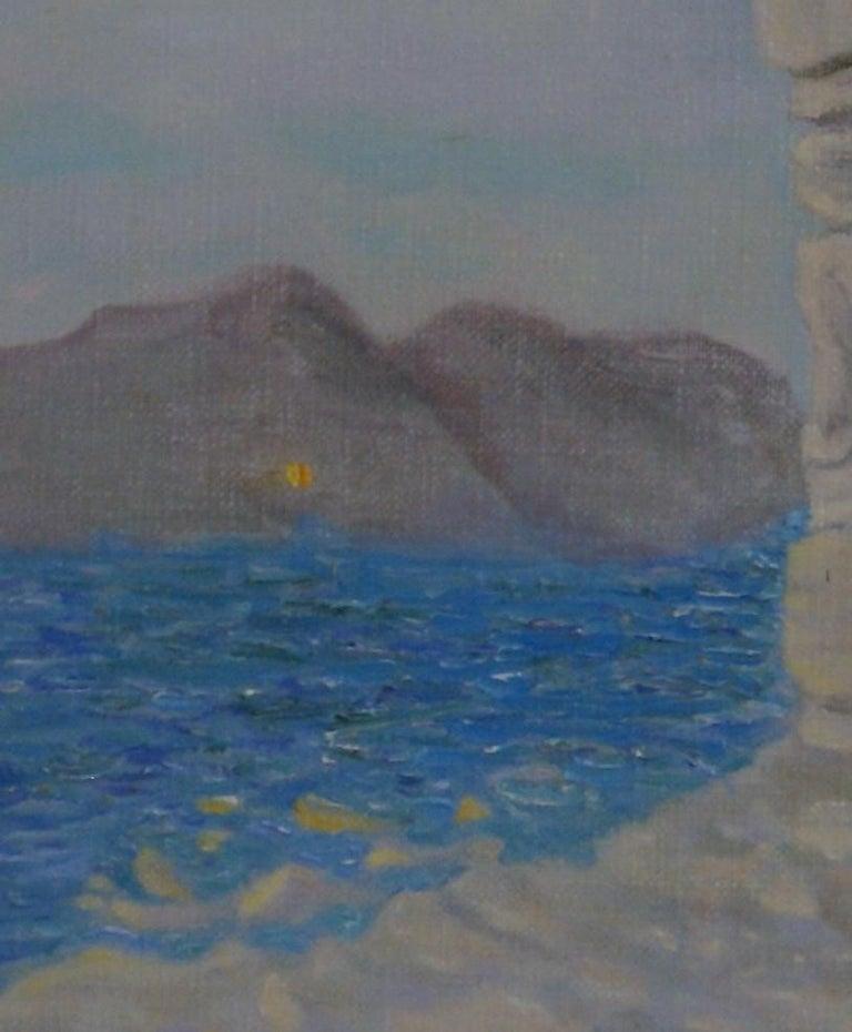 Lion of Delos - Impressionist Painting by Freeman Baldridge