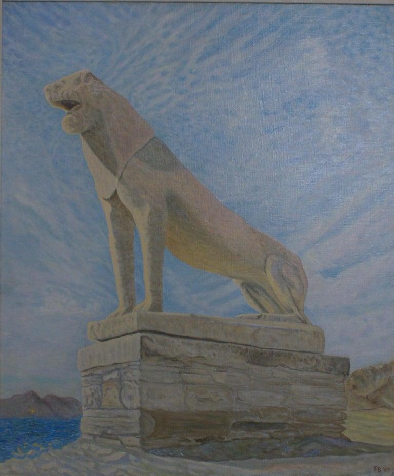 Lion of Delos - Painting by Freeman Baldridge