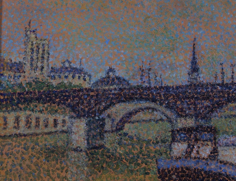 In Paris - Pointillist Painting by Emile Crepin