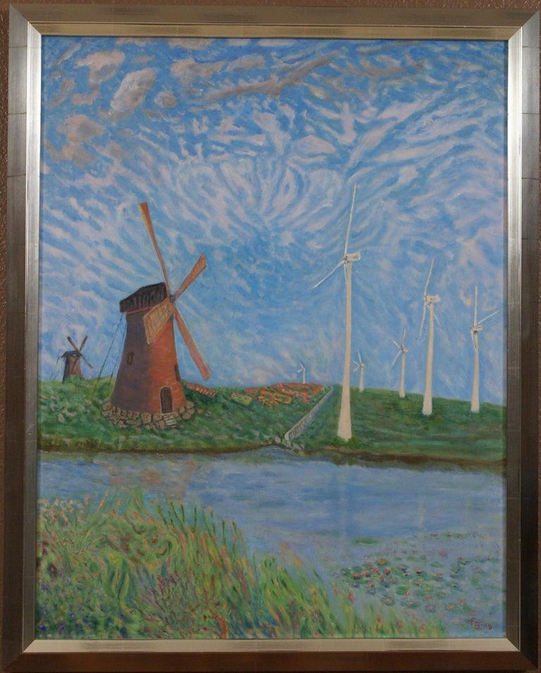 Freeman Baldridge Landscape Painting - Windshear