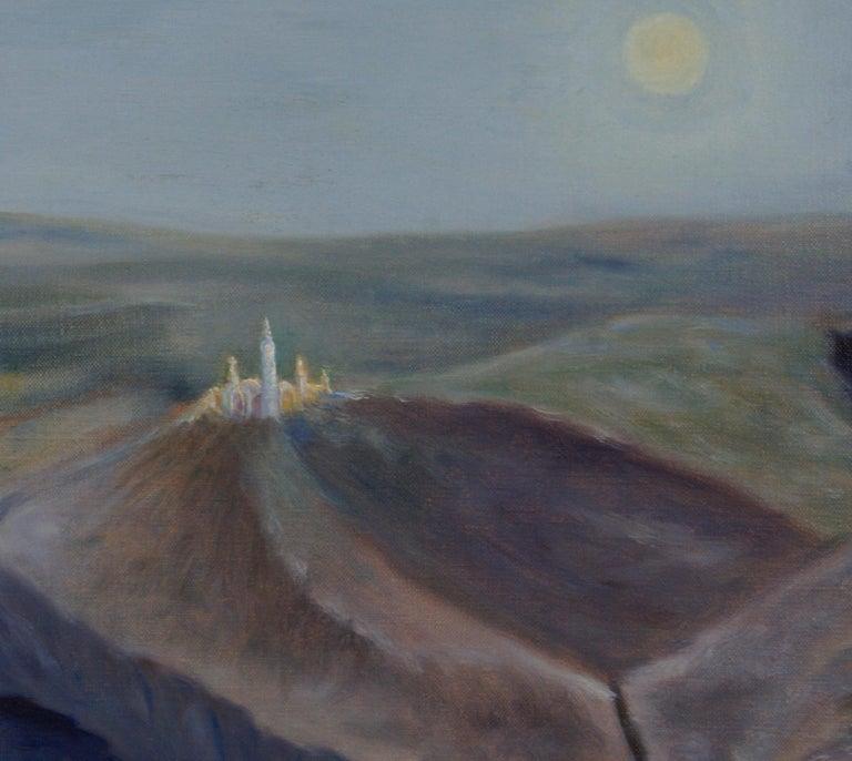 Landscape - Surrealist Painting by Freeman Baldridge
