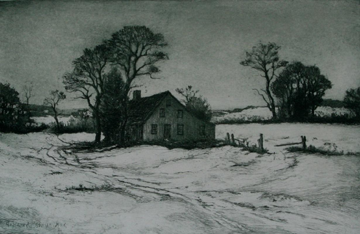 New England Winter: The Old Homestead.
