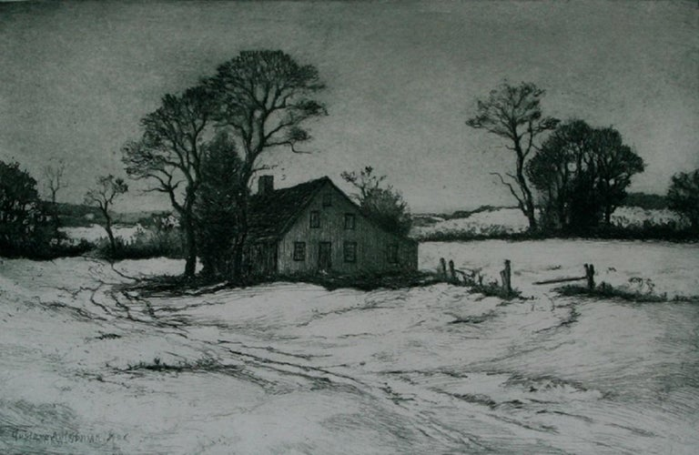 Gustave Adolph Hoffman New England Winter The Old