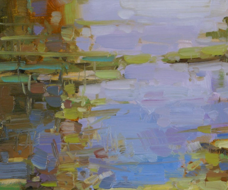 Water Lilies Pond - Abstract Impressionist Painting by Vahe Yeremyan