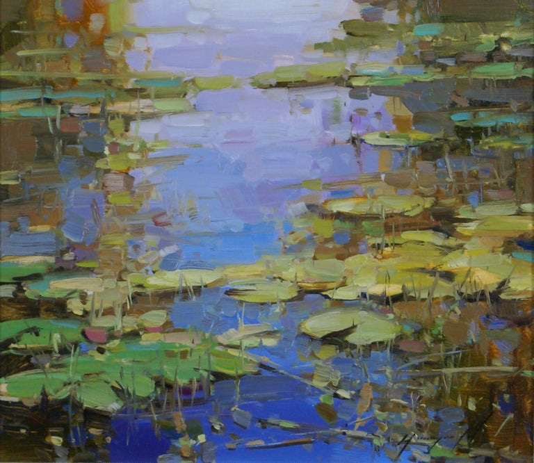 Water Lilies Pond - Painting by Vahe Yeremyan