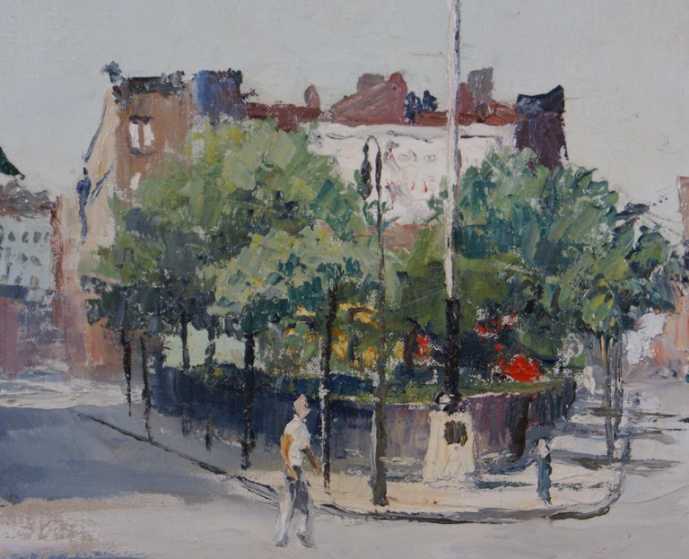 Sheridan Square - American Impressionist Painting by Peter Hayward