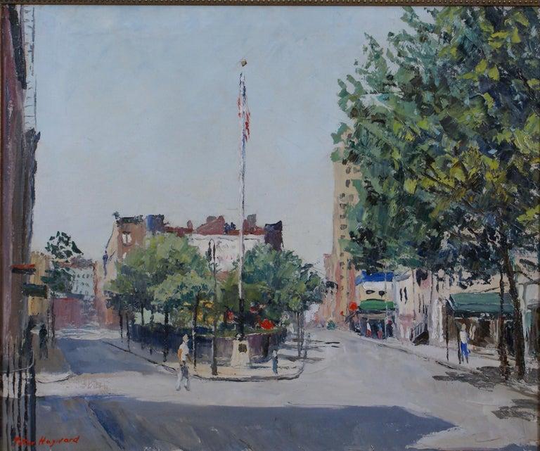 Sheridan Square - Painting by Peter Hayward