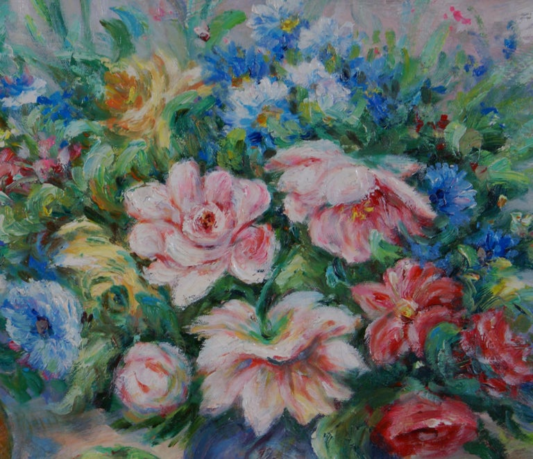 Pair of Floral Still Life Paintings For Sale 8
