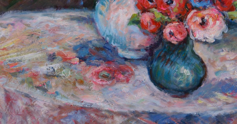Pair of Floral Still Life Paintings For Sale 2