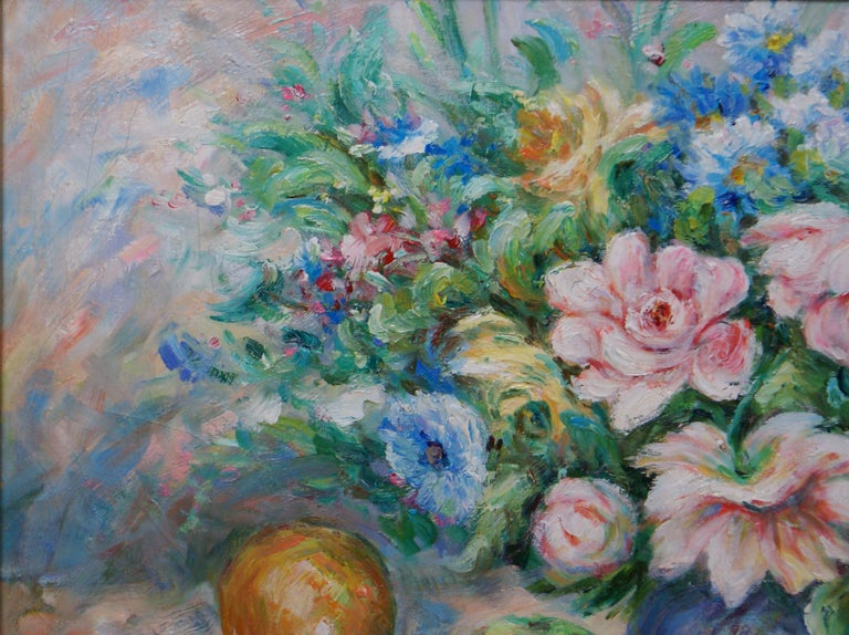 Pair of Floral Still Life Paintings For Sale 6