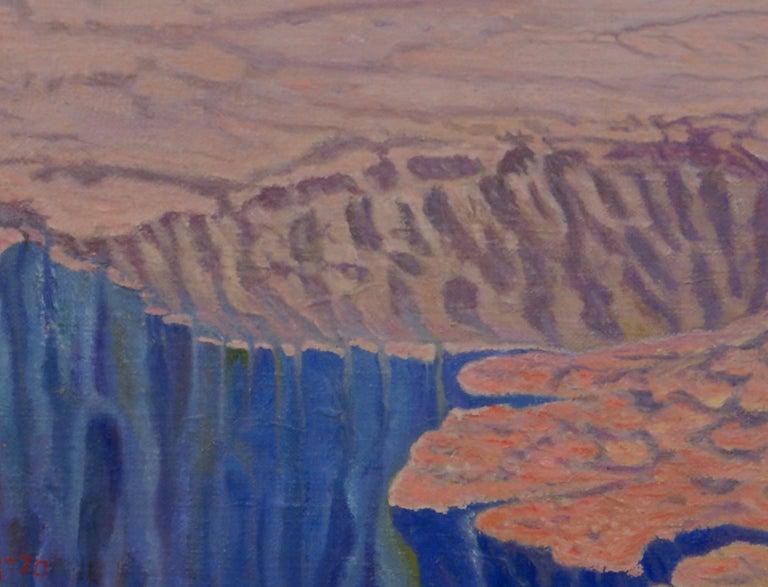 Boulders - Surrealist Painting by Freeman Baldridge