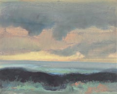 Ocean Landscape  (Small, Abstract Expressionism, Bay Area, San Francisco)