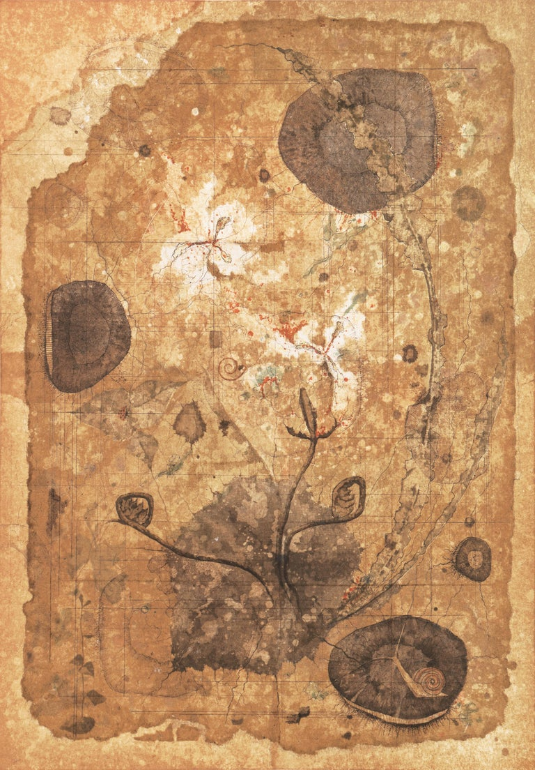 Ryonosuke Fukui Still-Life Print - 'Map of Life', University of Fine Arts, Tokyo, Still Life of Flowers, Benezit