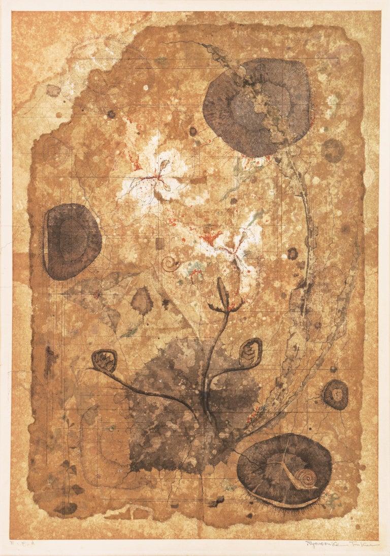 'Map of Life', University of Fine Arts, Tokyo, Still Life of Flowers, Benezit - Print by Ryonosuke Fukui