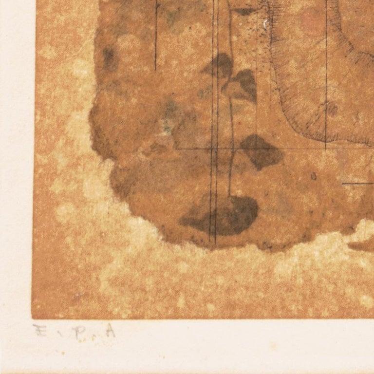 'Map of Life', University of Fine Arts, Tokyo, Still Life of Flowers, Benezit - Brown Still-Life Print by Ryonosuke Fukui