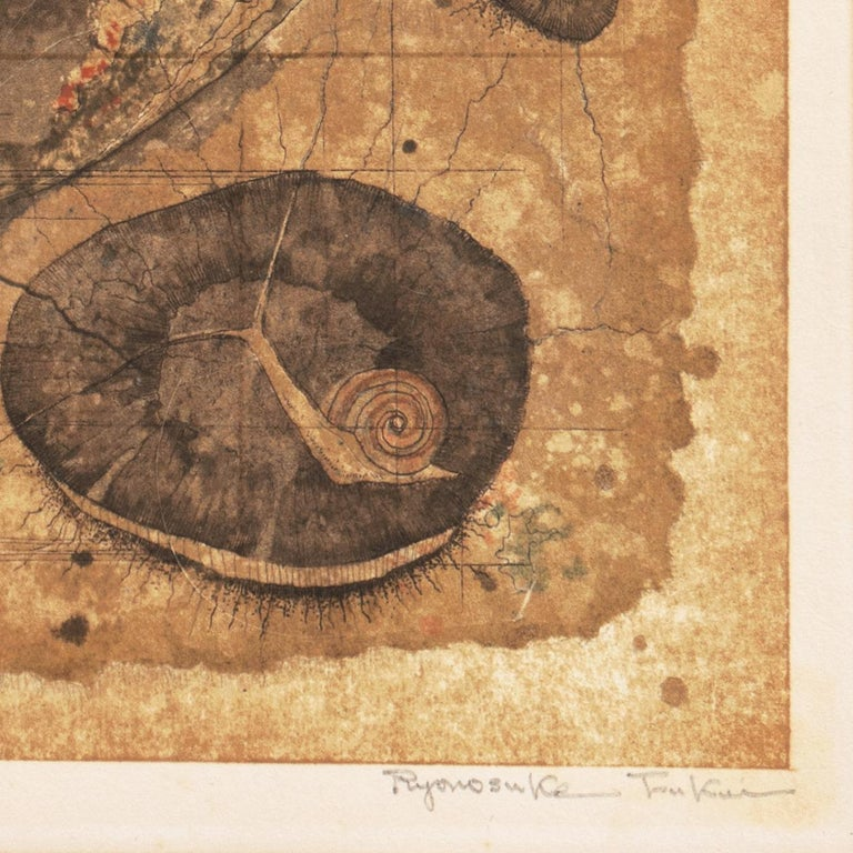 'Map of Life', University of Fine Arts, Tokyo, Still Life of Flowers, Benezit - Modern Print by Ryonosuke Fukui
