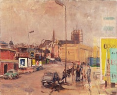 Brussels from A Window's View   (Impressionism, Landscape, Urban, Mid-century)