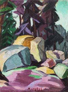 Mountain Forest  (Woman Artist, California, Modernism, Hans Hofmann, purple)