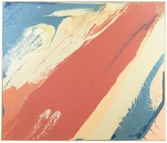 Red, White and Blue; Large American Action Abstract by Minnesota Woman Artist