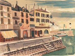 'Breton Village with Lighthouse', Post-Impressionism, Brittany, Modernism