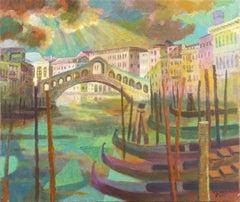 'The Rialto Bridge at Sunset, Venice', Dusseldorf Academy of Fine Arts