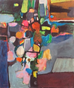 'Floral Still Life', Bay Area Abstract, California Modernist Woman Artist