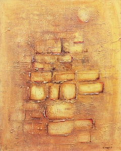'Composition in Ochre and Sand', 1970's Bay Area Abstraction, Los Robles Gallery