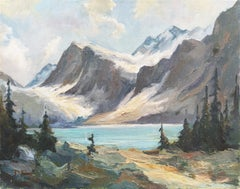 'High Sierras, California', Plein Air Impressionist Lake Landscape, AIC