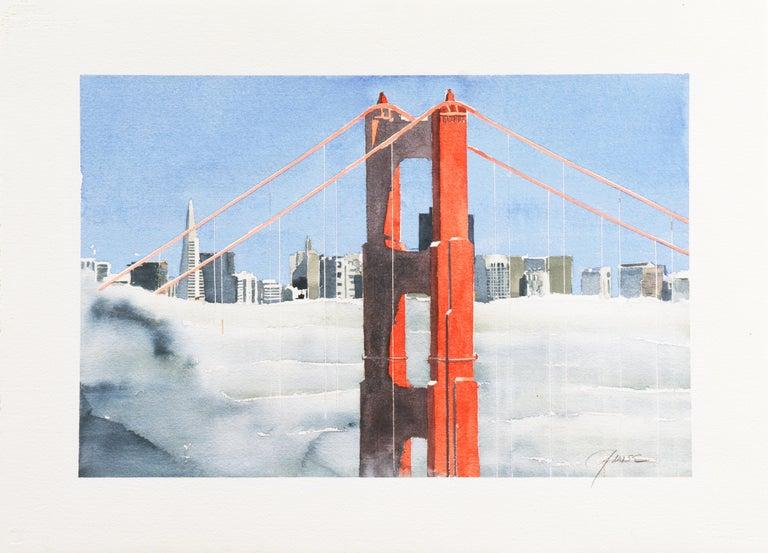 'San Francisco Golden Gate Bridge', California Architecture - Art by G. Wise