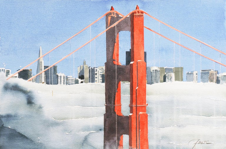 G. Wise Landscape Art - 'San Francisco Golden Gate Bridge', California Architecture