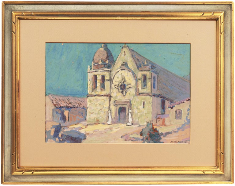 Early Impressionist View of the Old Carmel Mission, California  For Sale 1