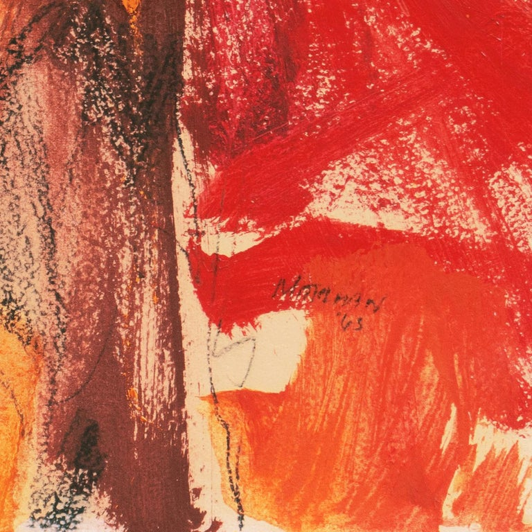 'Small Red' San Francisco Bay Area Abstract Expressionist oil, California For Sale 1