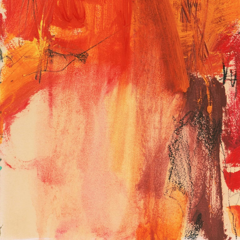 'Small Red' San Francisco Bay Area Abstract Expressionist oil, California For Sale 3