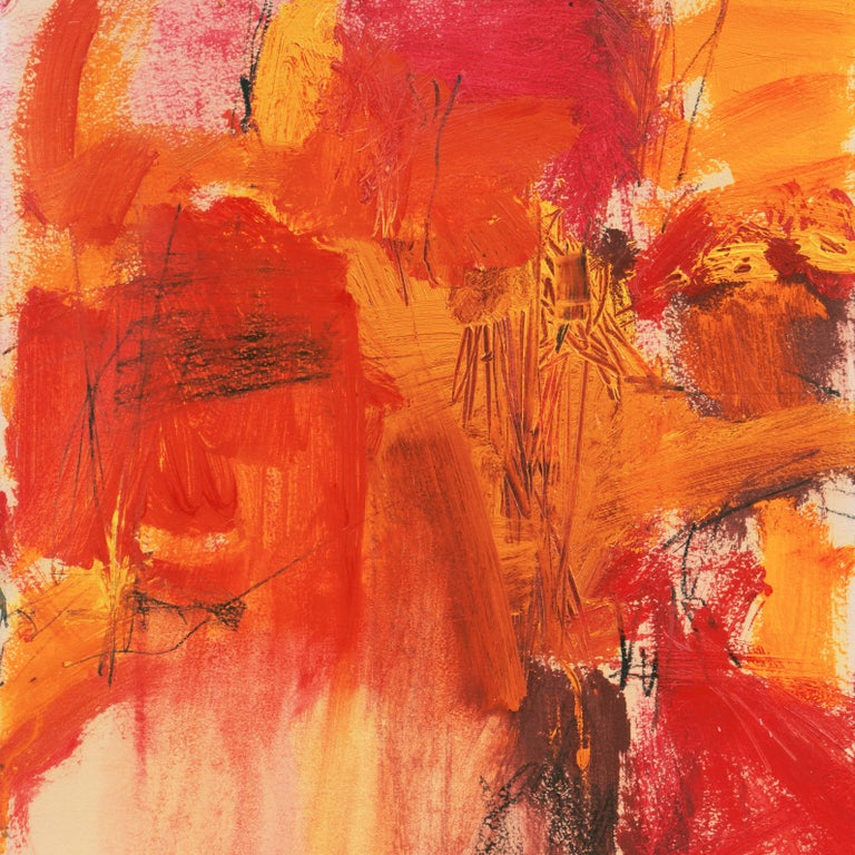 'Small Red' San Francisco Bay Area Abstract Expressionist oil, California For Sale 2