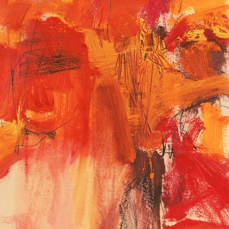 'Small Red' San Francisco Bay Area Abstract Expressionist oil, California For Sale 5