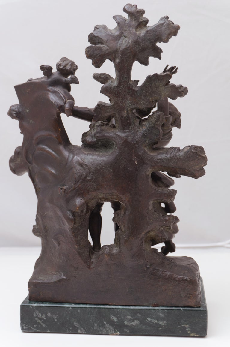 'The Kiss', Two Lovers Embracing, Bronze Figural Group after Fragonard For Sale 3