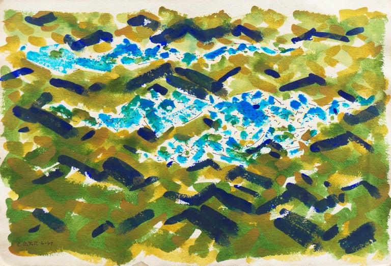 Carl Frederick Riter Landscape Art - 'Abstracted Lake Landscape', Wisconsin artist