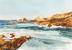'South Coast', Pacific Seascape Coastal Scene, Washington Book Illustrator