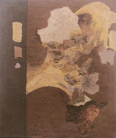 'Abstract in Ochre and Umber', California Woman artist, Palo Alto, San Jose