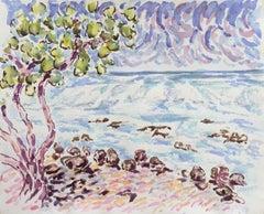 'Kailua-Kona Beach, Hawaii', Contemporary Impressionist Coastal Landscape