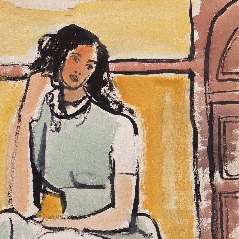 'Young Woman Seated', Cincinnati Art Museum, Brooklyn Museum, San Francisco For Sale 1