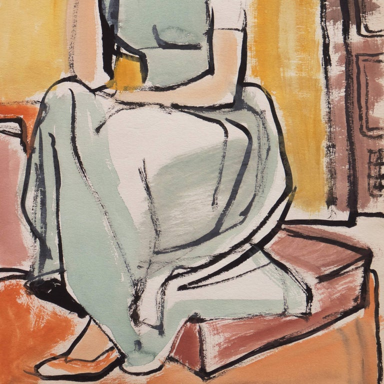 'Young Woman Seated', Cincinnati Art Museum, Brooklyn Museum, San Francisco For Sale 2