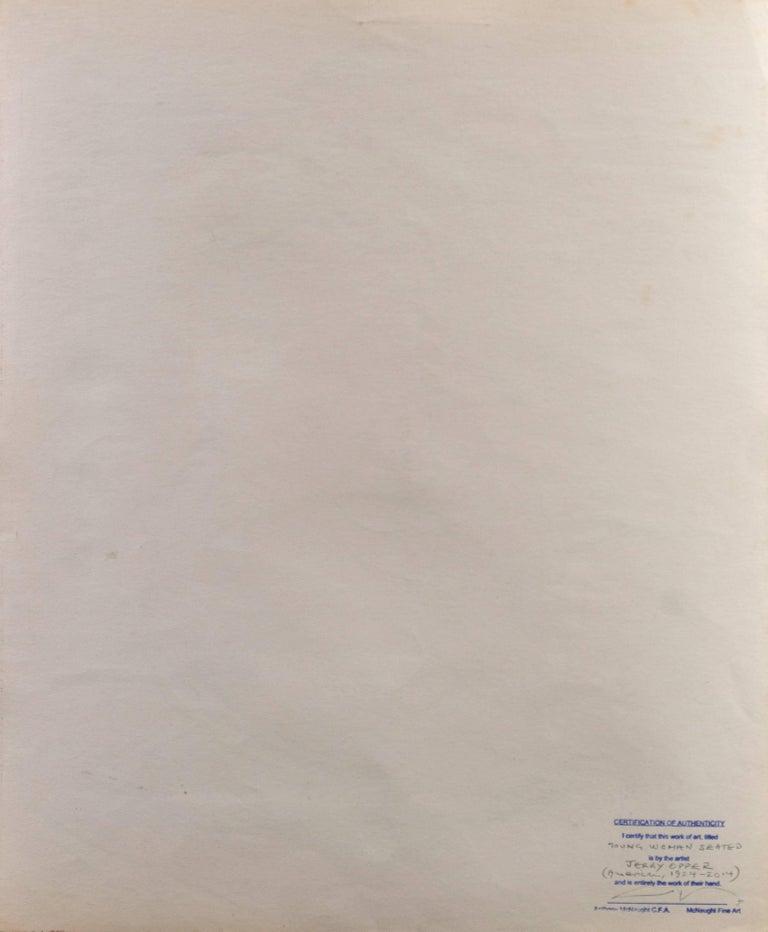 'Young Woman Seated', Cincinnati Art Museum, Brooklyn Museum, San Francisco For Sale 3