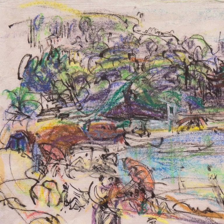Post Impressionist California Artist 'The Cote d'Azur', Paris, Salon d'Automne  For Sale 4
