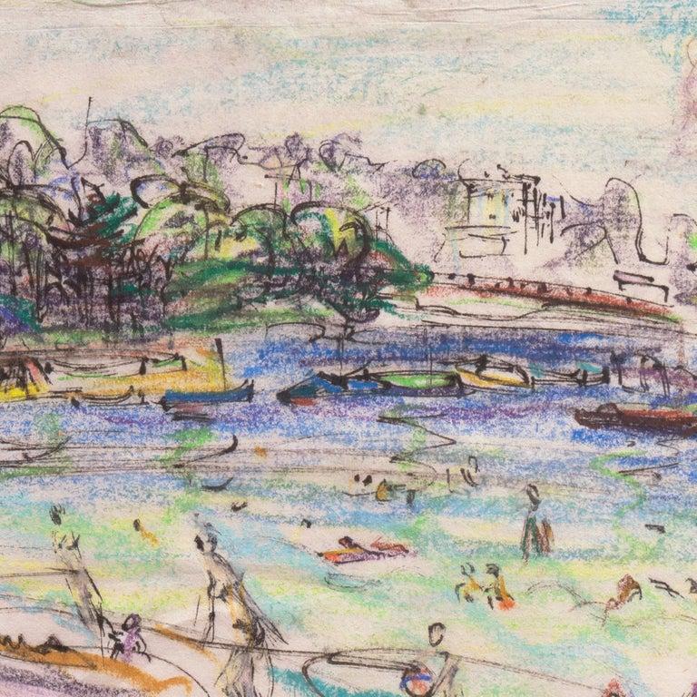 Post Impressionist California Artist 'The Cote d'Azur', Paris, Salon d'Automne  For Sale 6