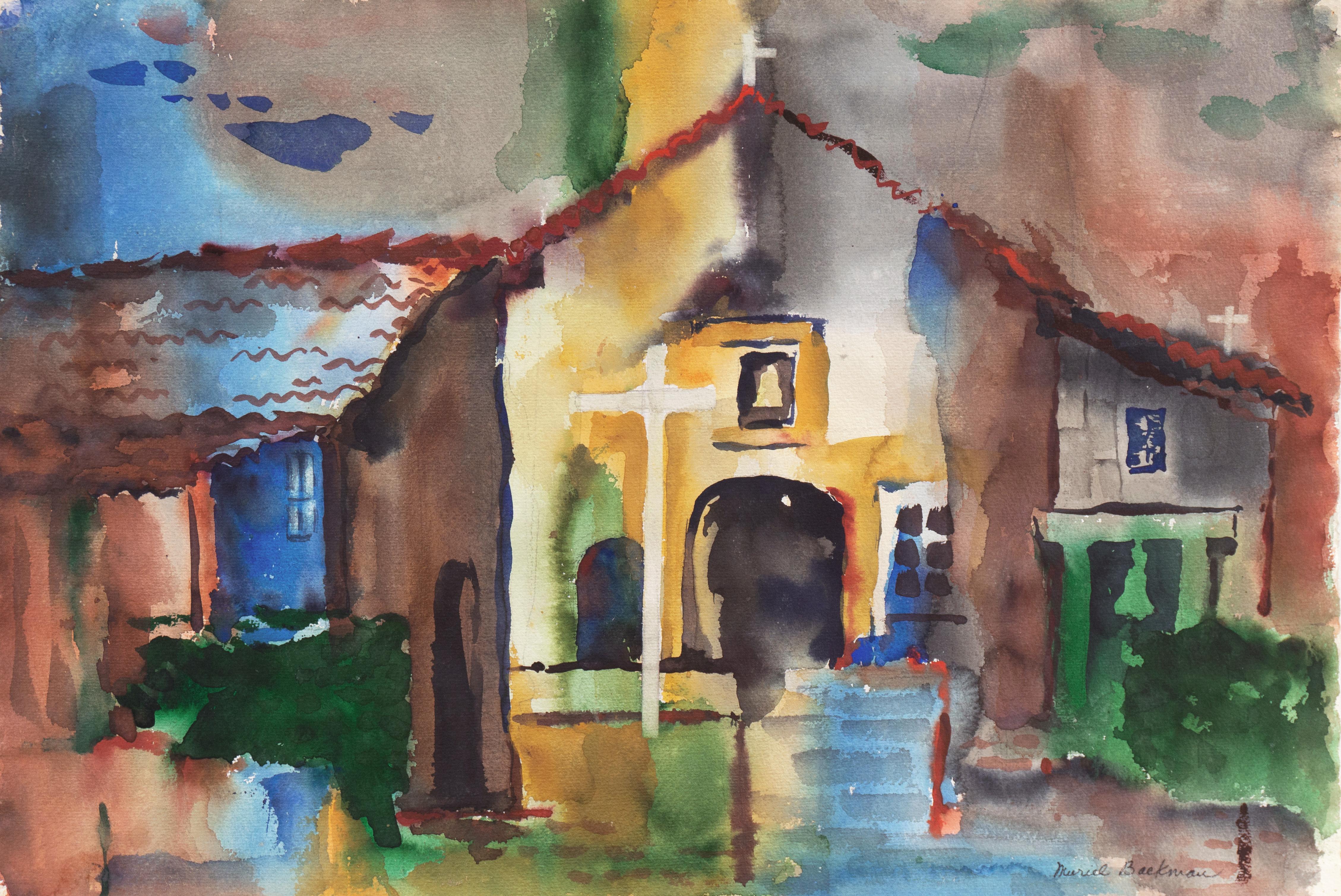 'View of the Mission, San Juan Bautista', Crocker Art Museum, Santa Cruz