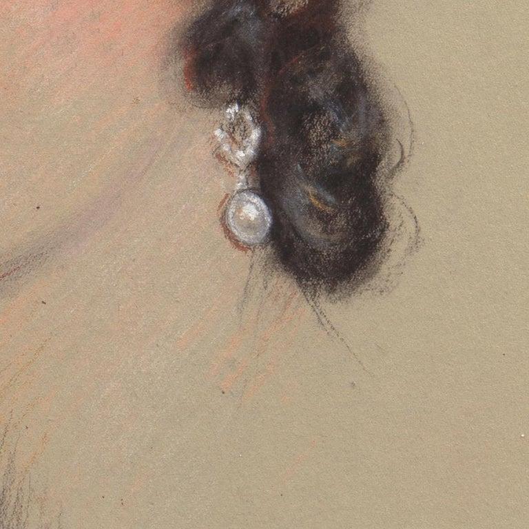 Early 20th century Portrait Study, 'Mrs. Washburne', Washington Socialite For Sale 4