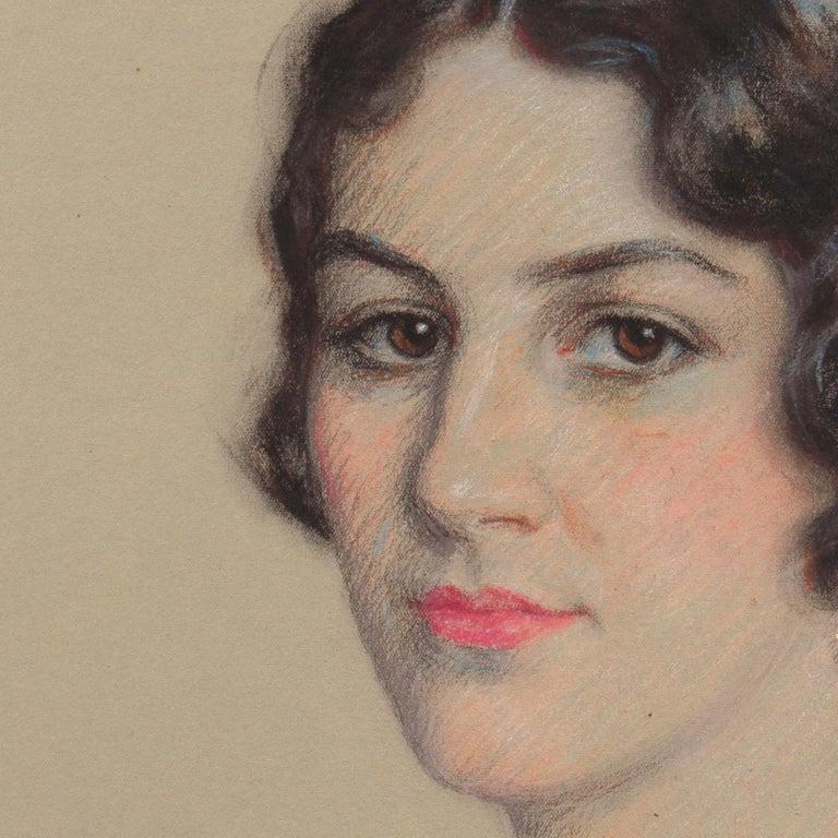 Early 20th century Portrait Study, 'Mrs. Washburne', Washington Socialite For Sale 2