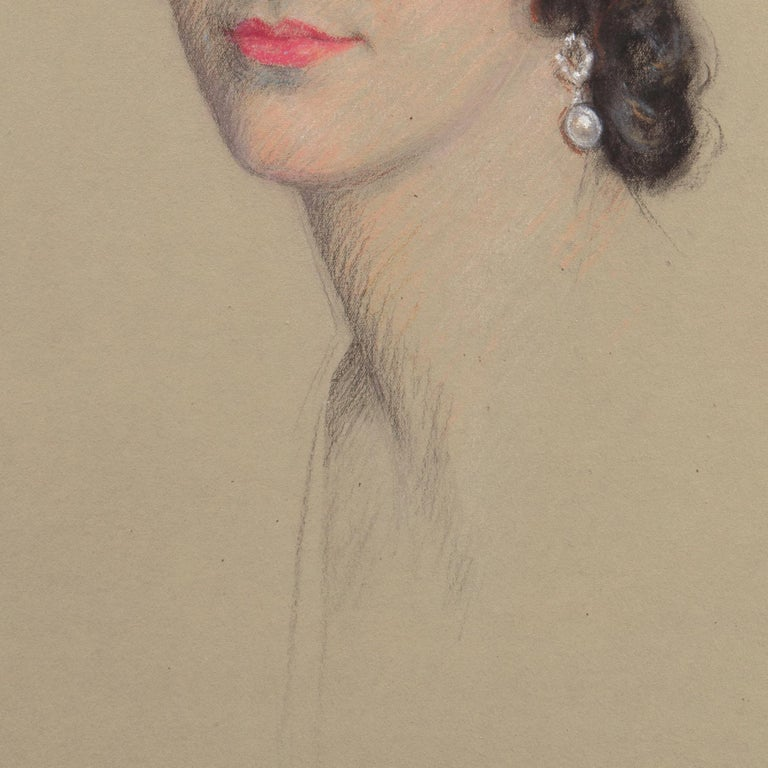 Early 20th century Portrait Study, 'Mrs. Washburne', Washington Socialite For Sale 5